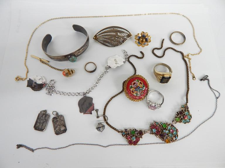 Collection of Jewelry with Sterling