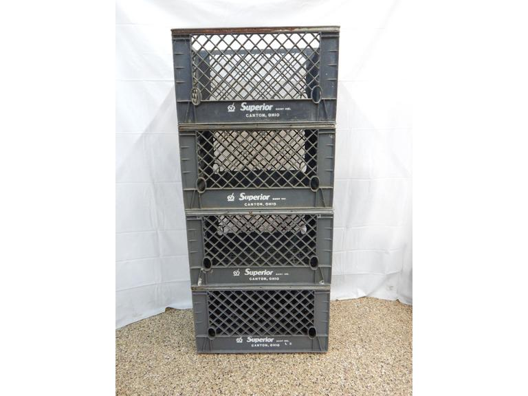 Lot of 4 Larger Milk Crates