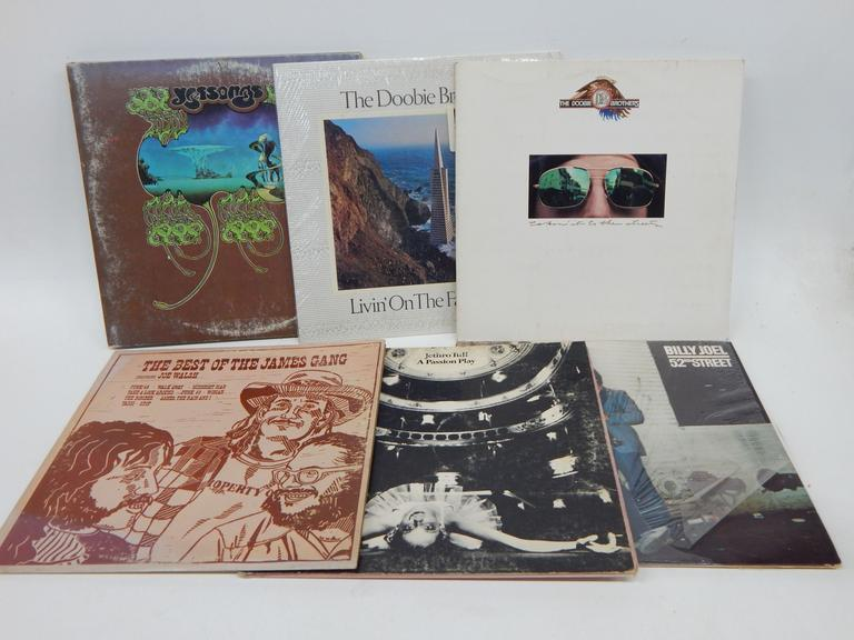 Collection of Vinyl Rock Albums