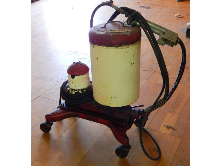 1920's Black & Decker Service Station portable grease Machine made in Kent Ohio