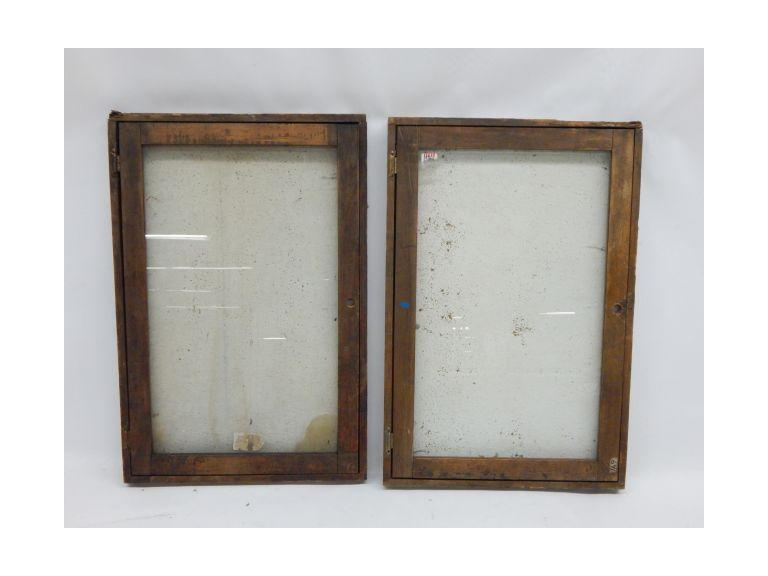 Pair of Large Wood Framed Display Cases
