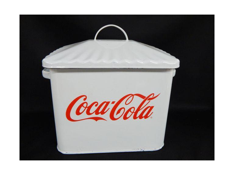 Enameled Steel Coca Cola Bread Box