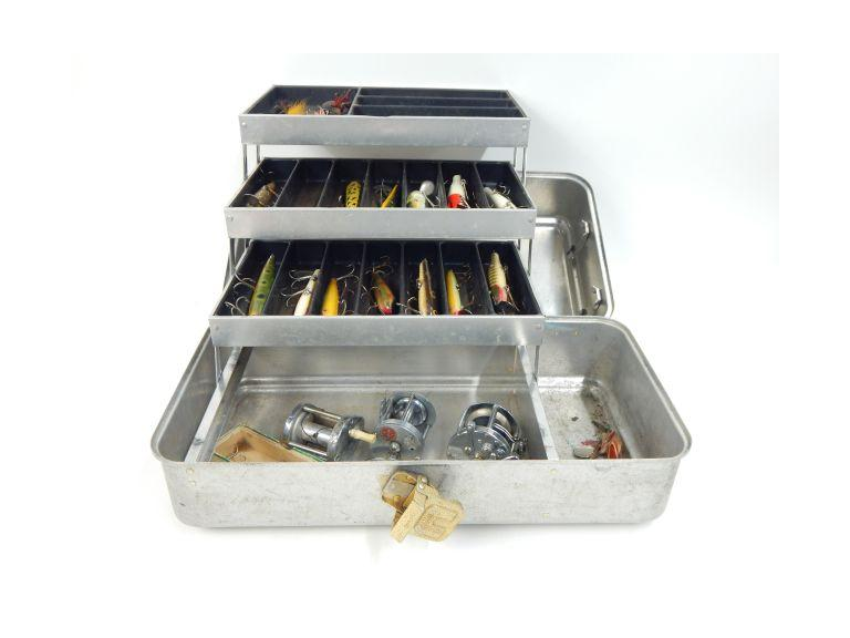 Fishing Tacklebox with Reels and Tackle