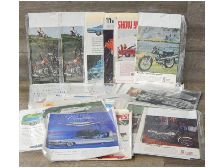 Large Collection of Car and Motorcycle Ads