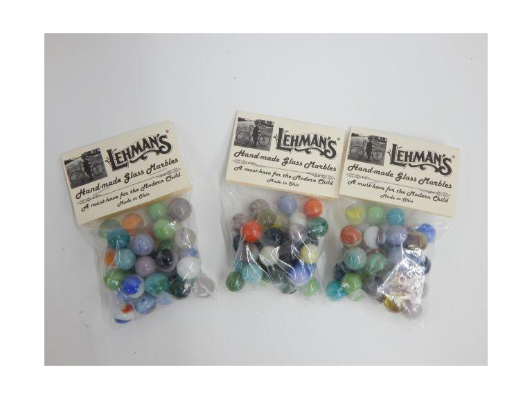 Collection of Lehman's Glass Marbles