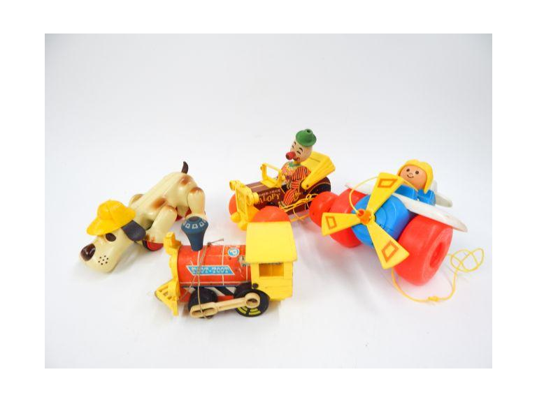 Collection of Old Pull Toys