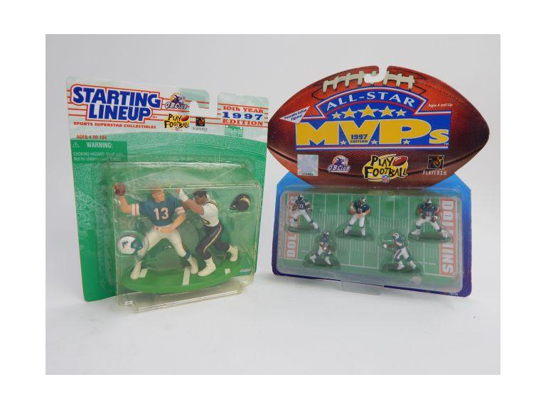 1997 Starting Line-Up and All-Star Miami Dolphins Figures