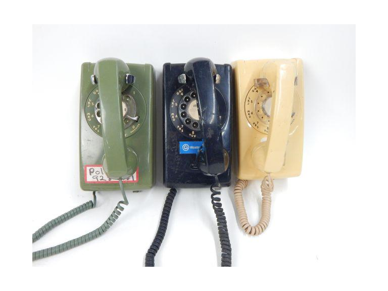 Western Electric Rotary Wall Phones