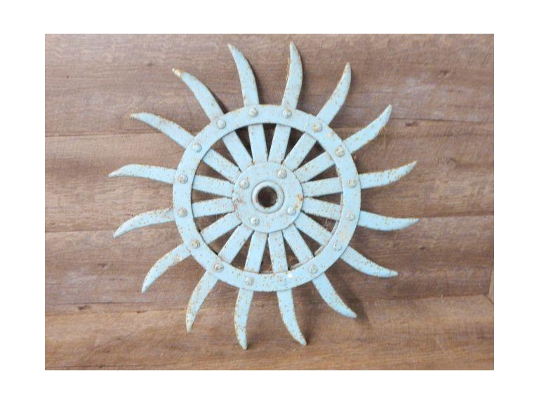 Cast Iron Spiked Plow Wheel