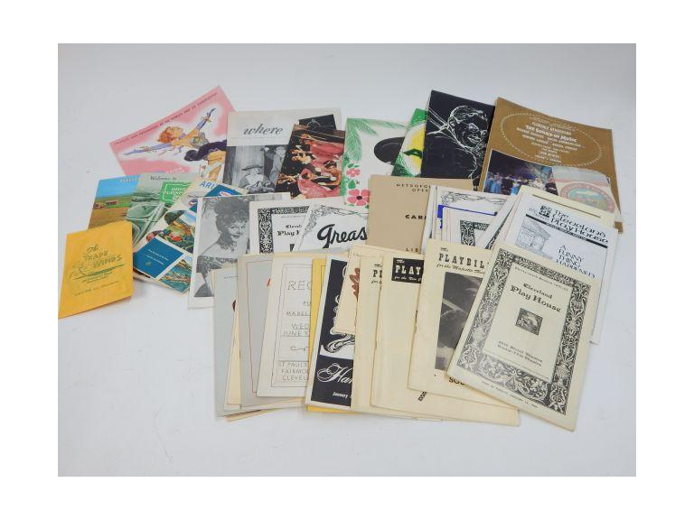 Collection of Ephemera with Old Playbills