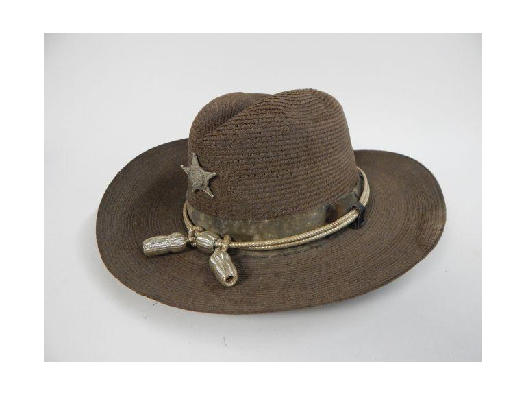 Old Deputy Sheriff Hat with Badge