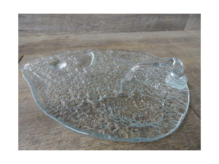 Hand Crafted Blenko Glass Tray