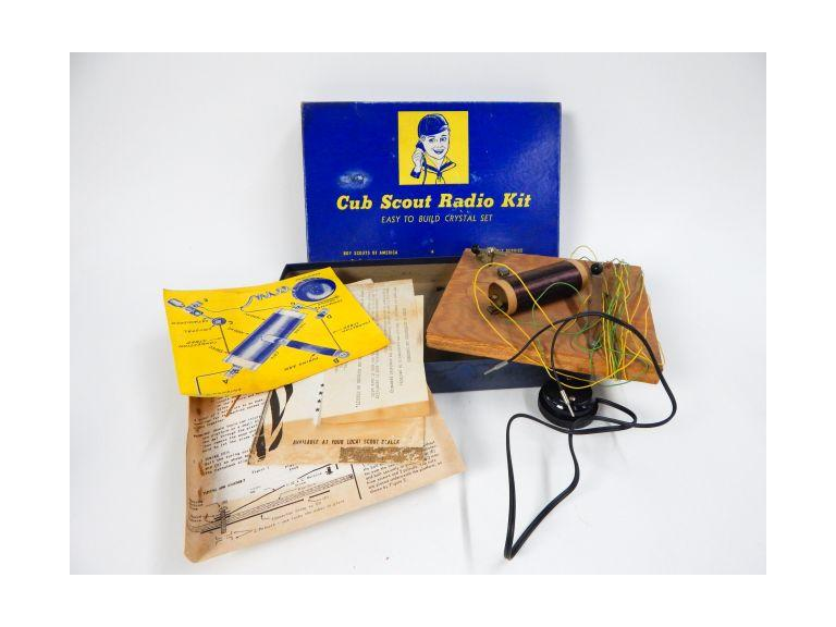 Vintage Boy Scout Crystal Radio Kit