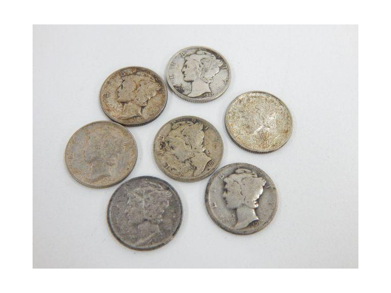 Collection of Silver mercury Dimes