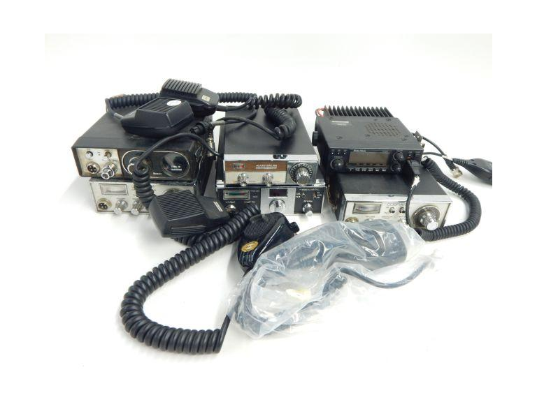 Collection of CB Radios and Microphones