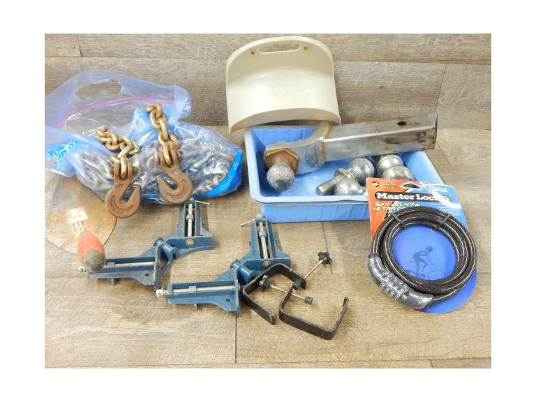 Tools, Chain, Trailer Balls and more