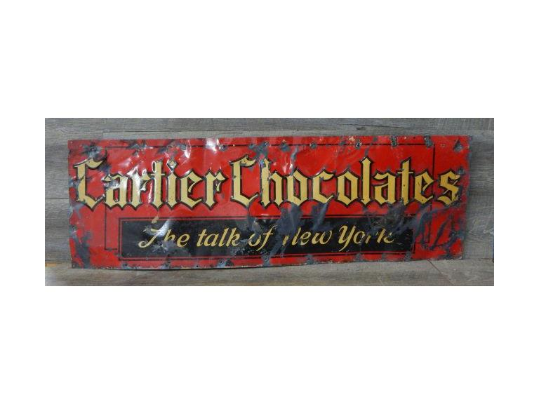 Old Cartier Chocolates Sign