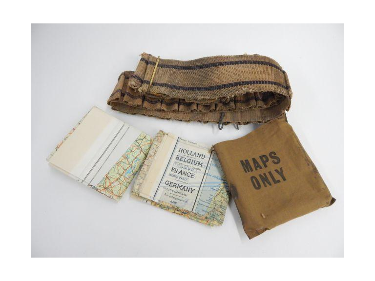 Military Cloth Maps and Belt