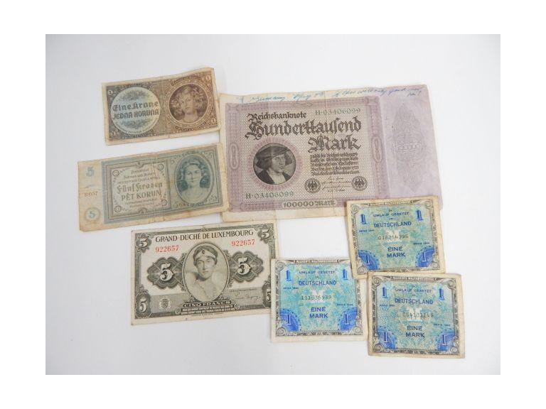 Collection of WW2 Era Money