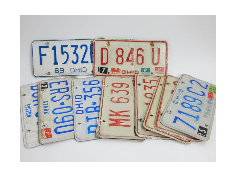 Collection of Ohio License Plates