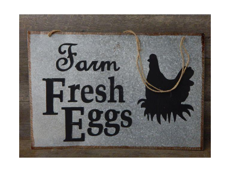 Farm Fresh Eggs Metal Sign